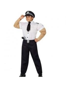 Déguisement Policier muscles enfant
