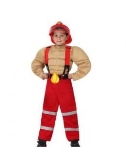 Déguisement Pompier musclé enfant