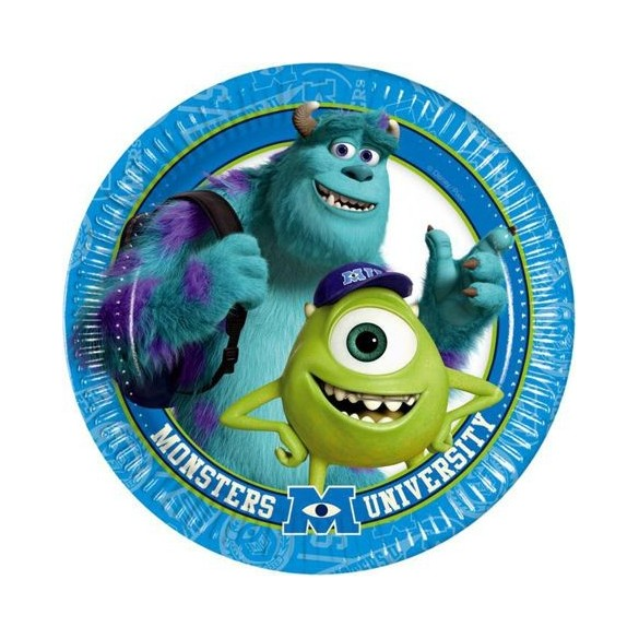 8 Assiettes Monster University
