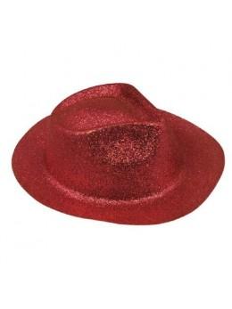 Borsalino paillettes rouge