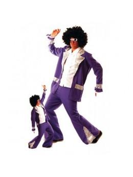 Déguisement disco king violet