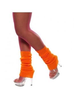 Chaussettes de danse année 80 orange fluo