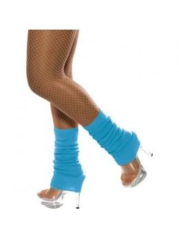 Chaussettes de danse année 80 turquoise fluo