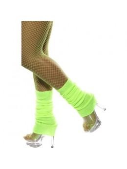 Chaussettes de danse année 80 vert fluo