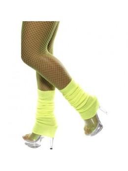 Chaussettes de danse année 80 jaune fluo
