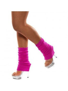 Chaussettes de danse année 80 rose fluo