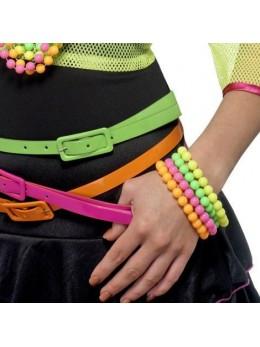 4 Bracelets perles fluo