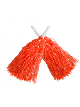 Paire Pompoms orange