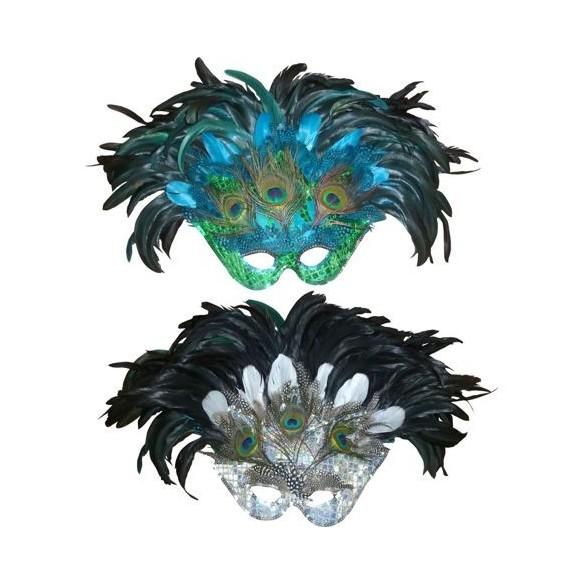 Masque Brésilien luxe pour Carnaval, bal masqué