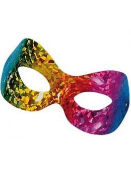 Masque loup vénitien hologramme