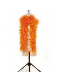 Boa en plumes 1m80 orange