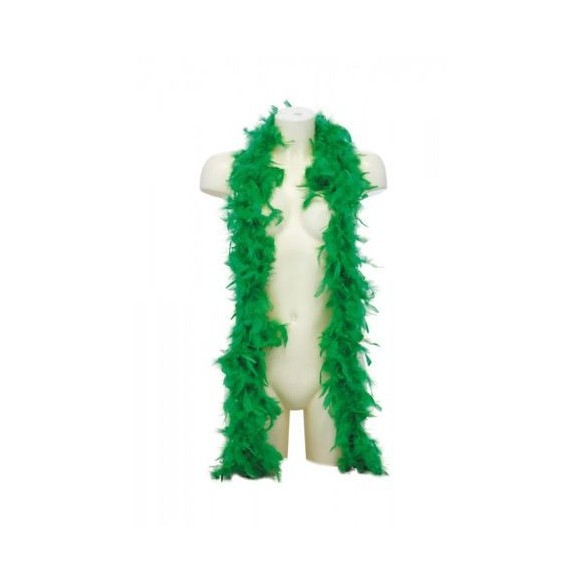 Boa en plumes 1m80 vert