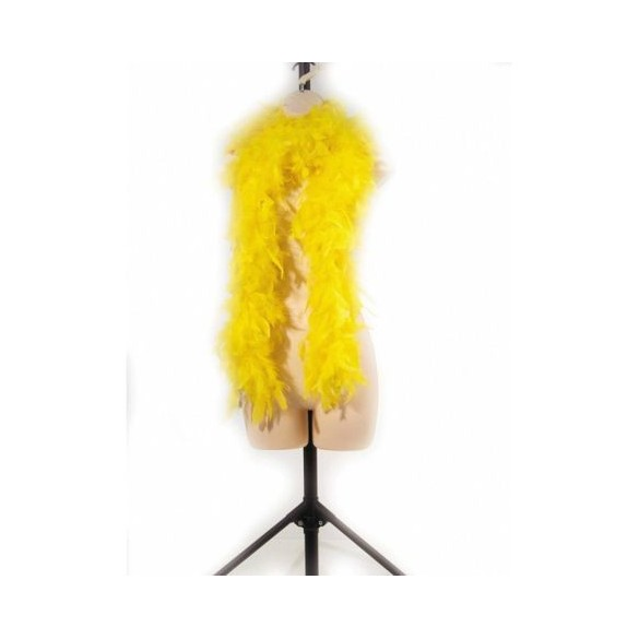Boa en plumes 1m80 jaune