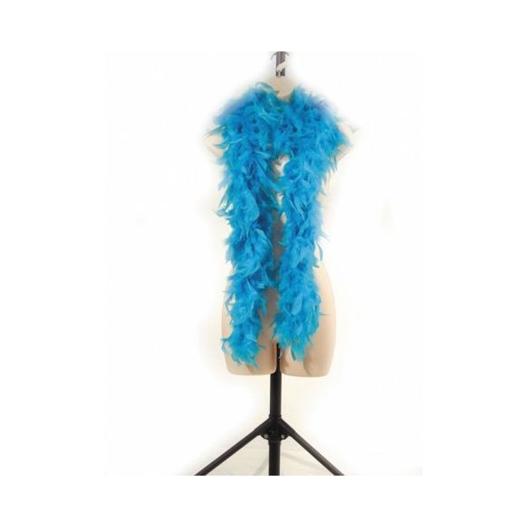 Boa en plumes 1m80 turquoise