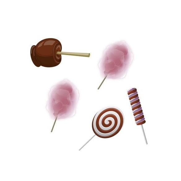 16 confetti de table thème sucreries