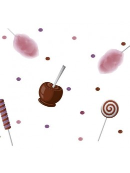 Chemin de table thème sucreries