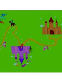 Chemin de table Princesses et chevalier