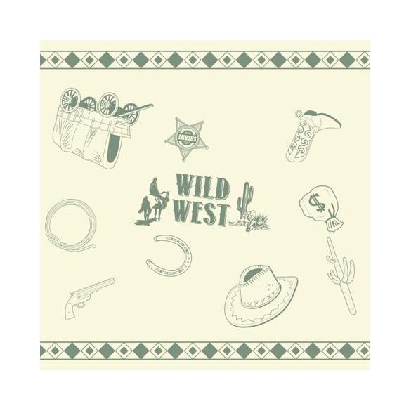 Chemin de table Western