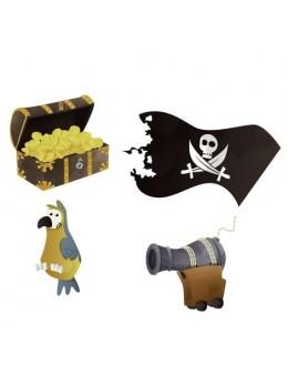 16 Confetti de table Pirates