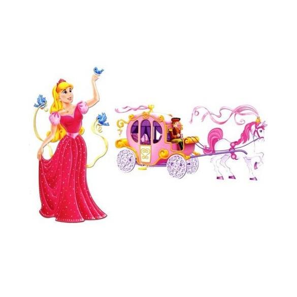 2 Décors Princesse et Carosse