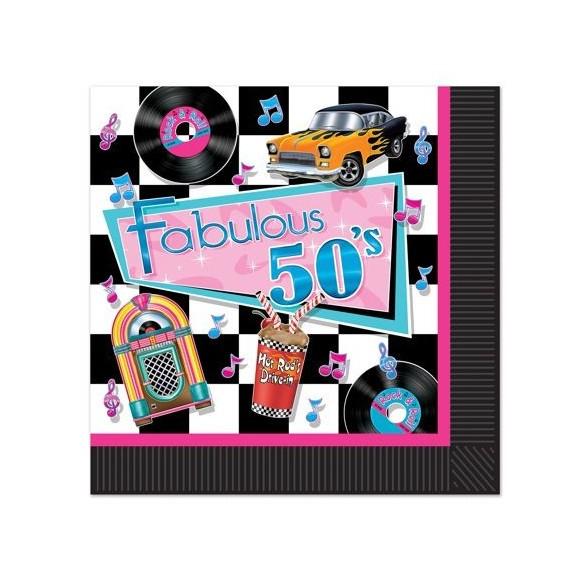16 Serviettes Fabulous 50's