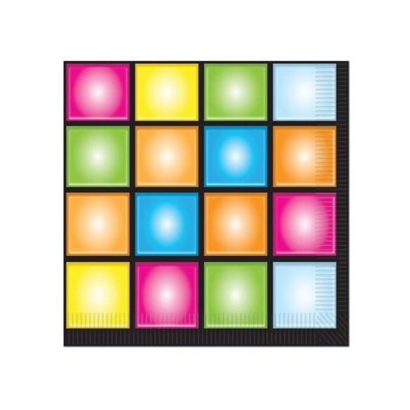 16 Serviettes Disco Boogie