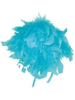 Boule en plumes 15 cm Turquoise