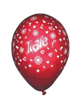 10 Ballons Love rouge