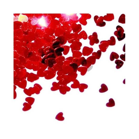 Confetti coeurs rouge