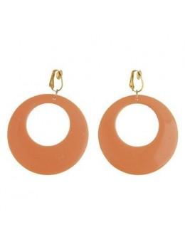 Boucles d'oreilles orange fluo