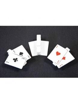 6 Pinces Cartes à jouer