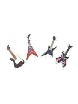 Confetti bois forme guitare