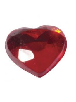 Coeurs Adhésifs Rouge 6mm