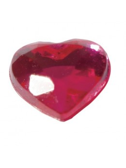 Coeurs Adhésifs Fushia 6mm