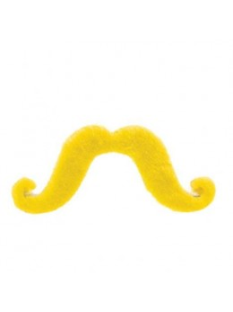 Moustache supporter jaune