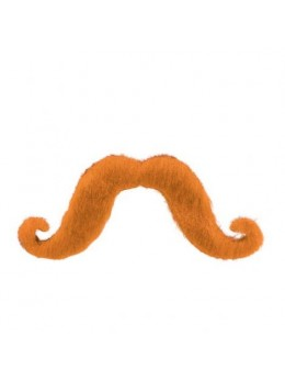 Moustache supporter orange