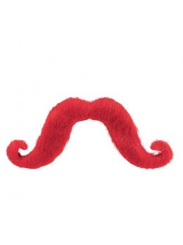 Moustache supporter rouge