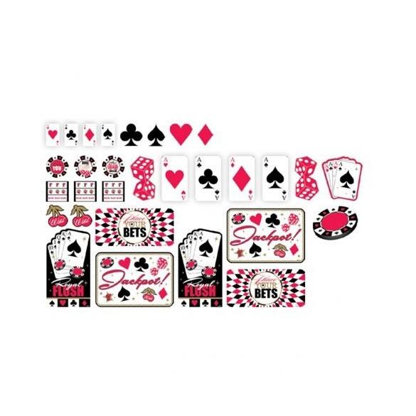 Kit de déco Casino 30 pièces