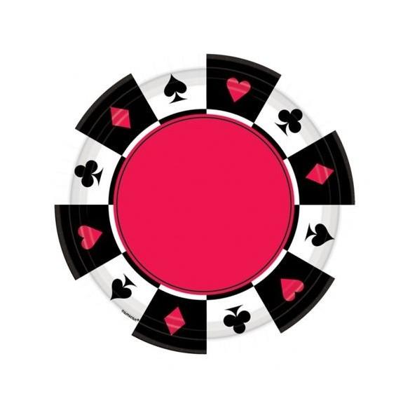 8 Assiettes Casino 26cm