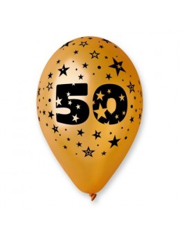 10 Ballons 50ans or