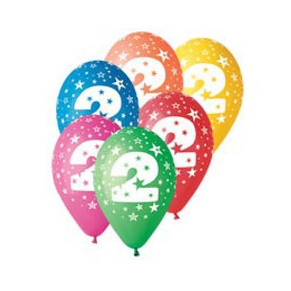 10 Ballons chiffre 2