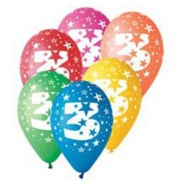 10 Ballons chiffre 3