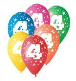 10 Ballons chiffre 4