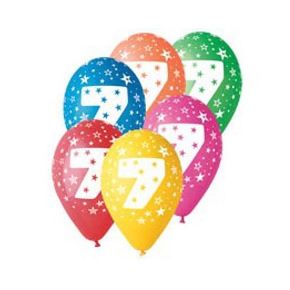 10 Ballons chiffre 7