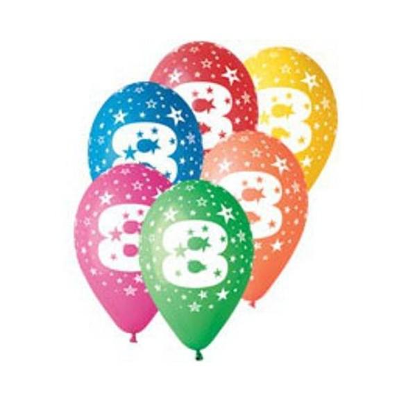 10 Ballons chiffre 8