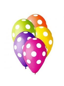 10 Ballons pois multicolores