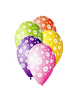 10 Ballons flower multicolores