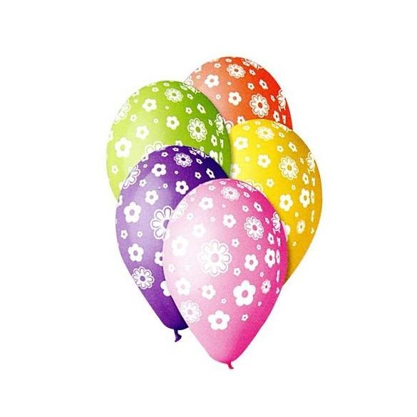 10 Ballons flower multicolores