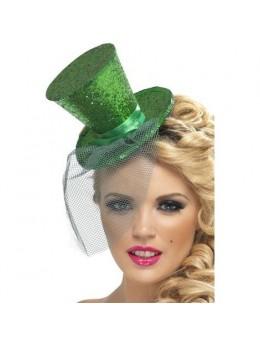 Mini chapeau haut de forme vert