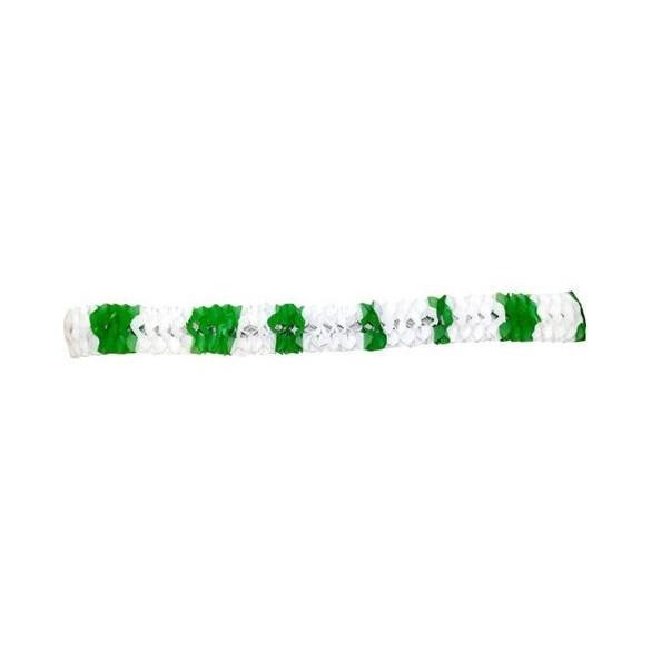Guirlande papier St Patrick vert et blanc
